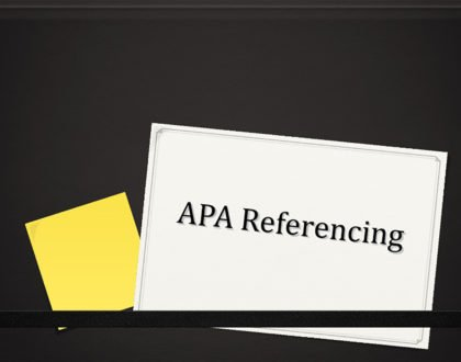 simple guide to APA Referencing