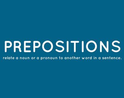 Finishing Sentence Prepositions
