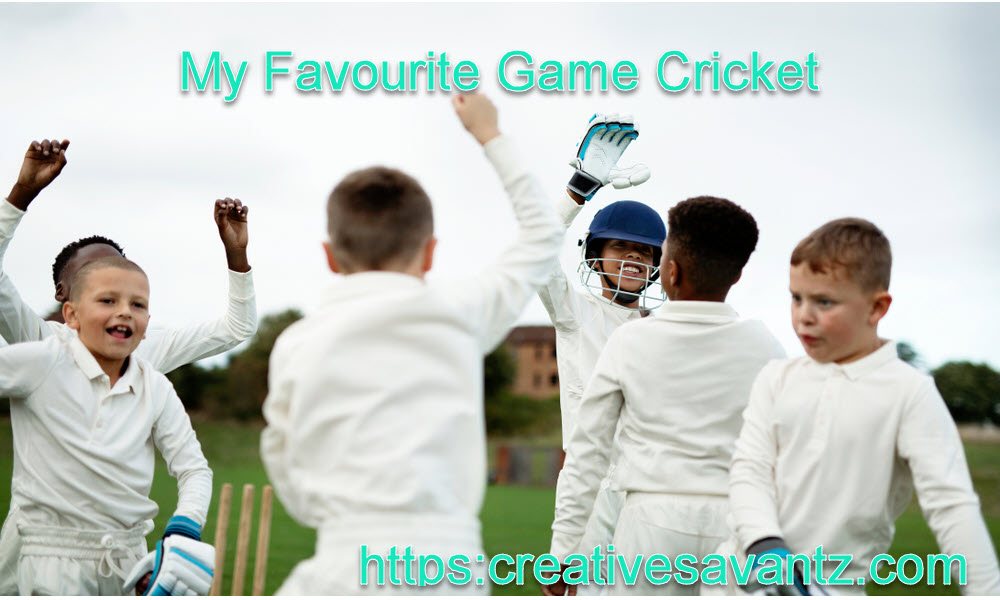my favourite game cricket