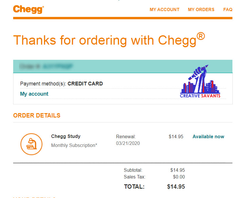 chegg subscription monthly