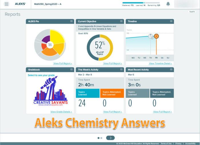 Aleks Chemistry Answers