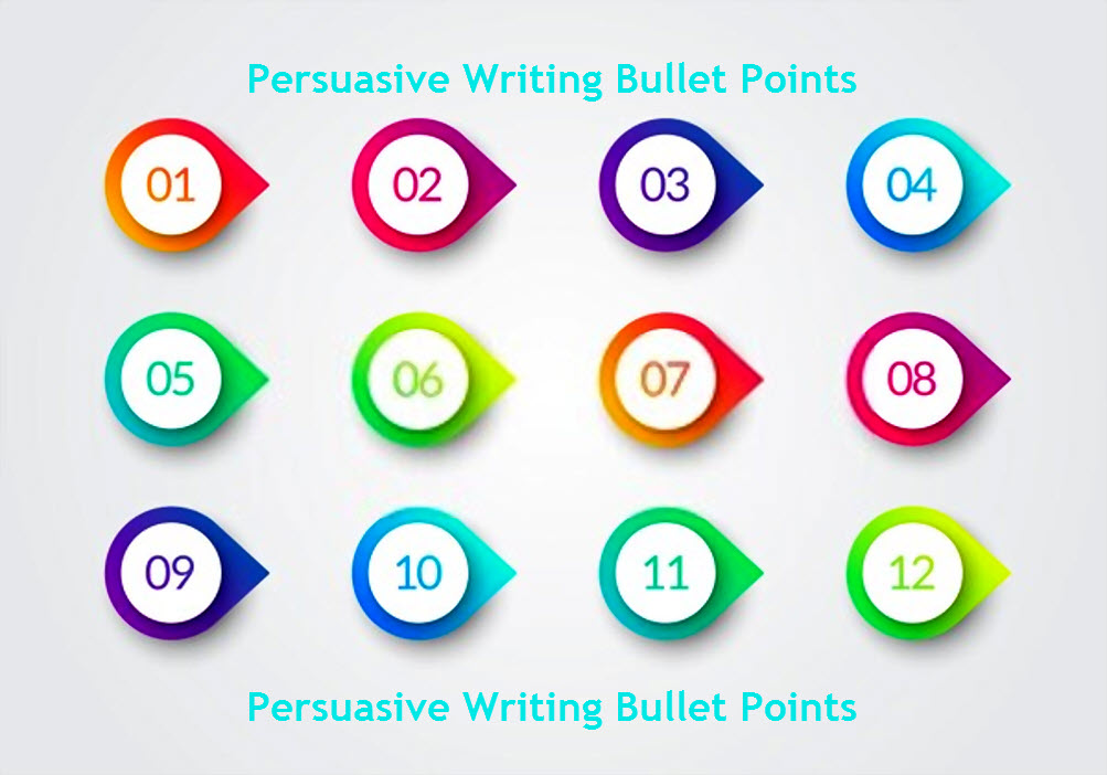 Persuasive Writing Bullet Points