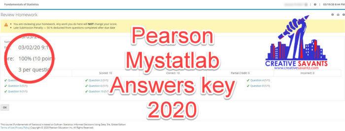 pearson mystatlab answers key 2020
