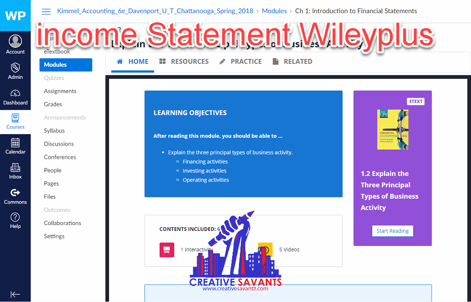 income statement wileyplus