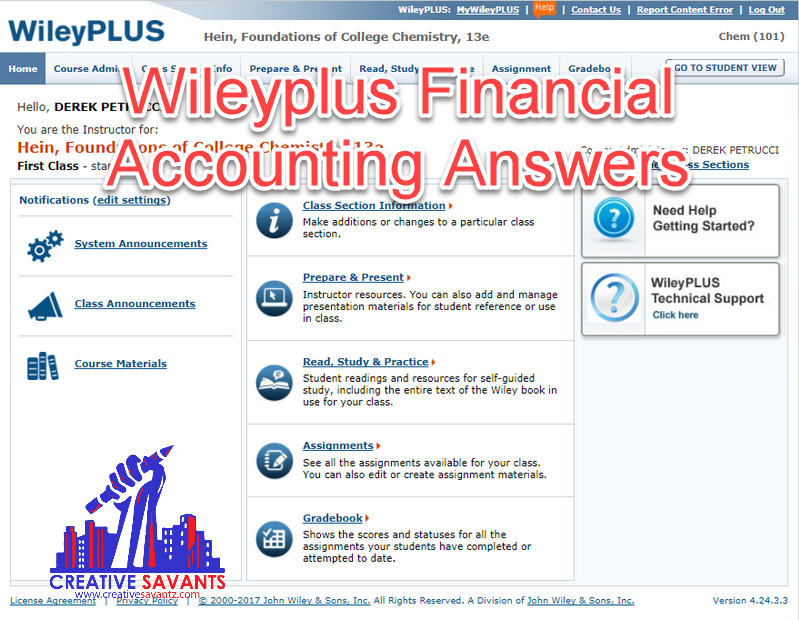 wileyplus financial accounting answers