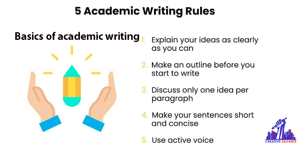 rules of academic writing