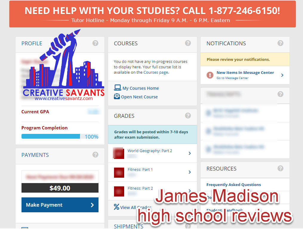James Madison high school reviews