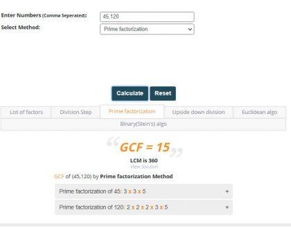 GCF Finder