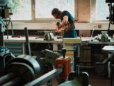 working in workshop