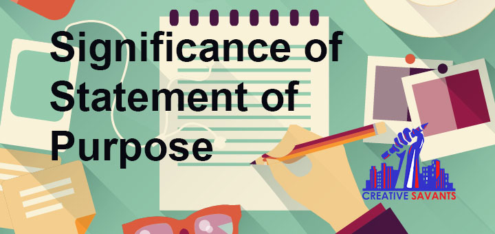 Significance of Statement of Purpose