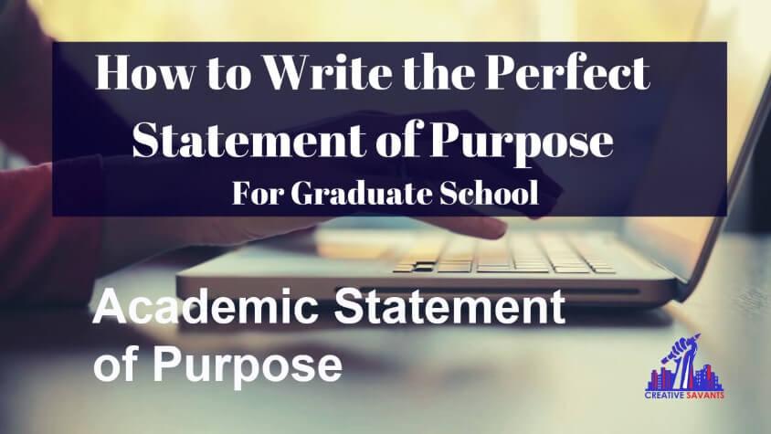 Academic statement of purpose